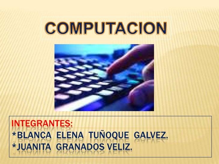 Trabajo de definicion de computacion