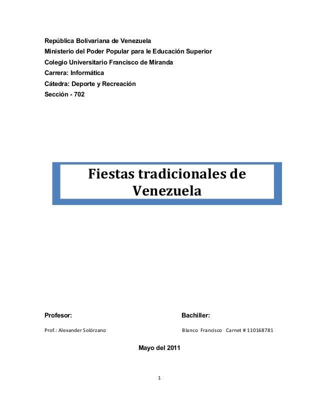 República Bolivariana de VenezuelaMinisterio del Poder Popular para le Educación SuperiorColegio Universitario Francisco d...