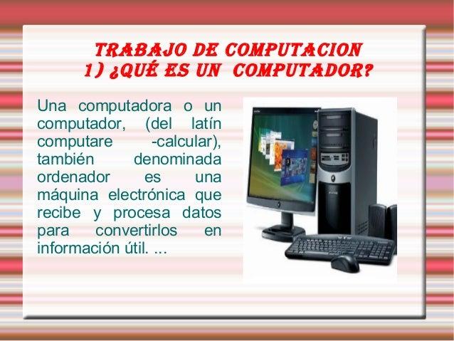 trabajo del computador