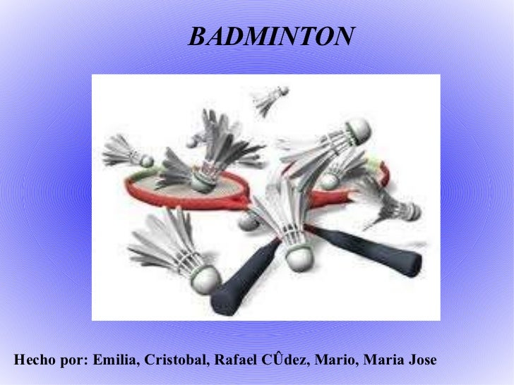 Trabajo de e.f badminton