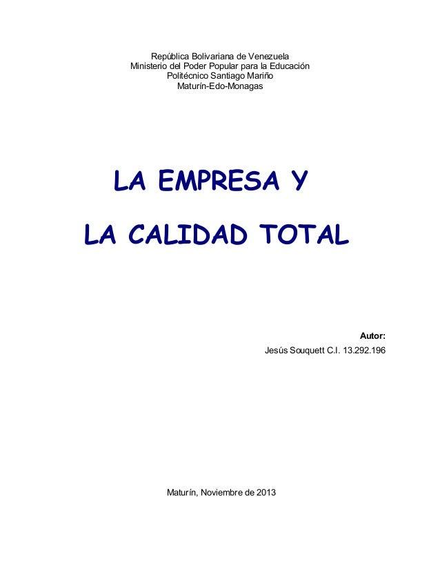 calidad total empresa: