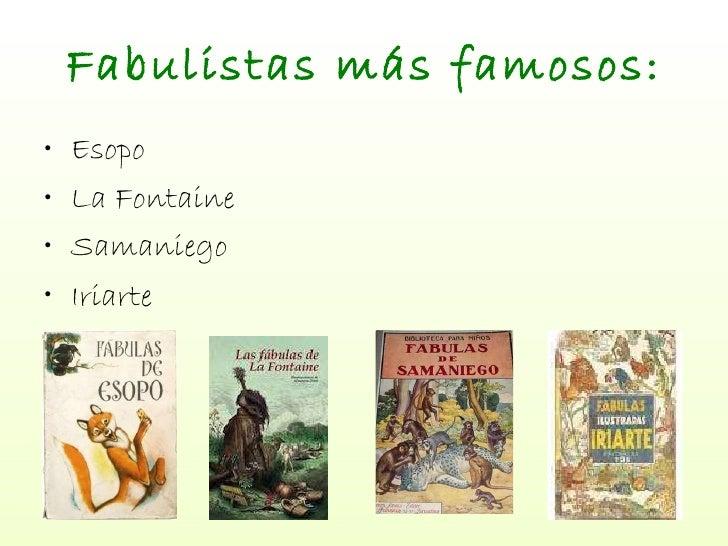 Resultado de imagen de FAMOSOS fabulistas