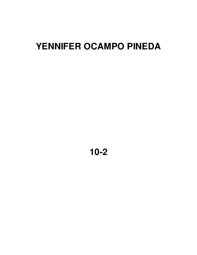 YENNIFER OCAMPO PINEDA 10-2