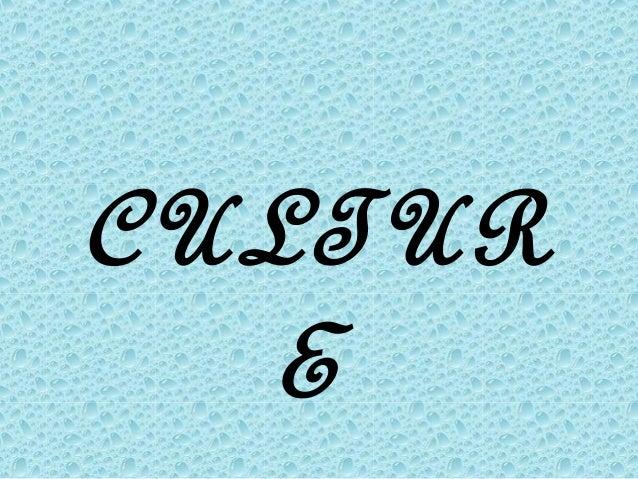 CULTUR  E