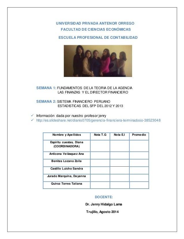 UNIVERSIDAD PRIVADA ANTENOR ORREGO  FACULTAD DE CIENCIAS ECONÓMICAS  ESCUELA PROFESIONAL DE CONTABILIDAD  SEMANA 1: FUNDAM...