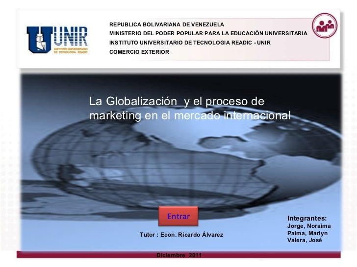 <ul><li>REPUBLICA BOLIVARIANA DE VENEZUELA </li></ul><ul><li>MINISTERIO DEL PODER POPULAR PARA LA EDUCACIÓN UNIVERSITARIA ...