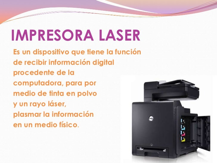 Definicion y funciones de las impresoras laser for Que es la oficina y sus caracteristicas