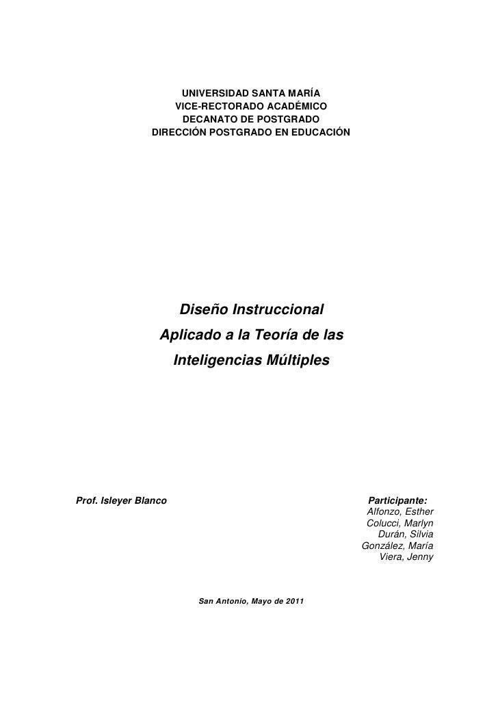 UNIVERSIDAD SANTA MARÍA                    VICE-RECTORADO ACADÉMICO                     DECANATO DE POSTGRADO             ...