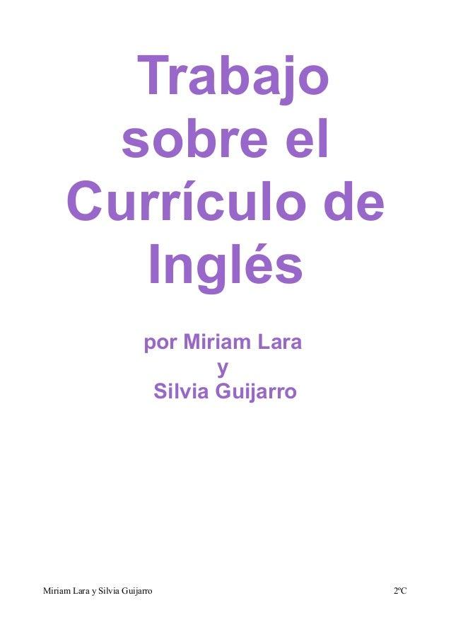 Trabajo      sobre el     Currículo de       Inglés                          por Miriam Lara                              ...