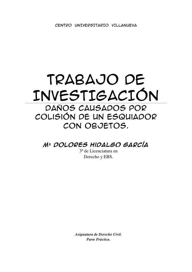 Trabajo de Investigación de Derecho Civil.