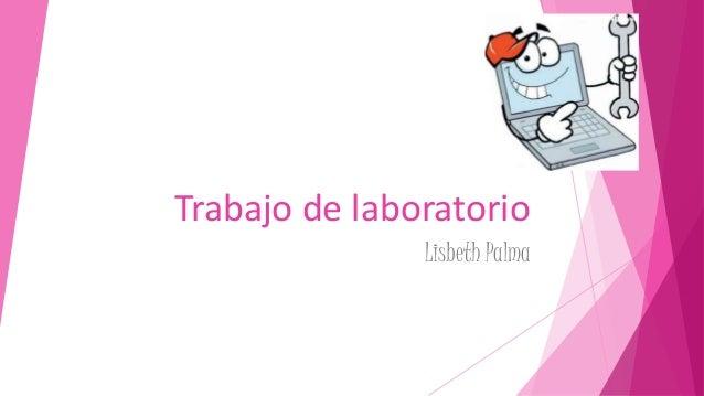Trabajo de laboratorio Lisbeth Palma