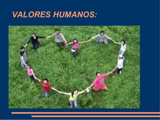 Trabajo de los valores humanos