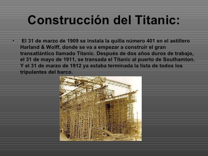 Trabajo del titanic - Construccion del titanic ...