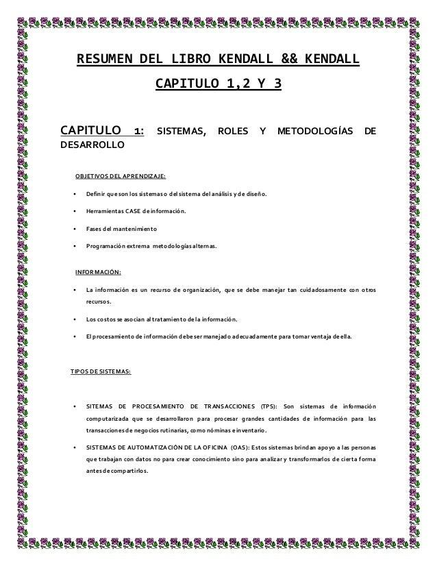 resumen libro kendall kendall capitulo 1 2 y 3 y