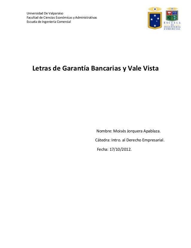 Universidad De ValparaísoFacultad de Ciencias Económicas y AdministrativasEscuela de Ingeniería Comercial   Letras de Gara...