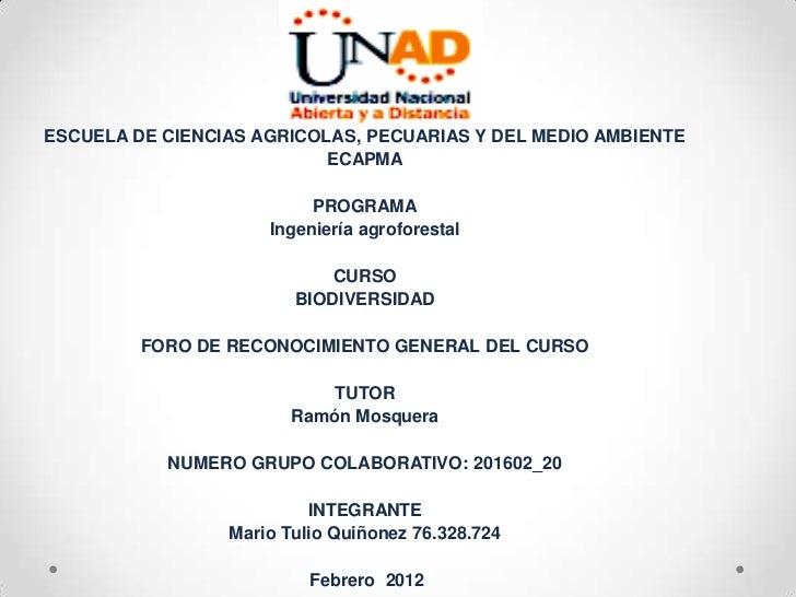 ESCUELA DE CIENCIAS AGRÍCOLAS, PECUARIAS Y DEL MEDIO AMBIENTE                           ECAPMA                          PR...