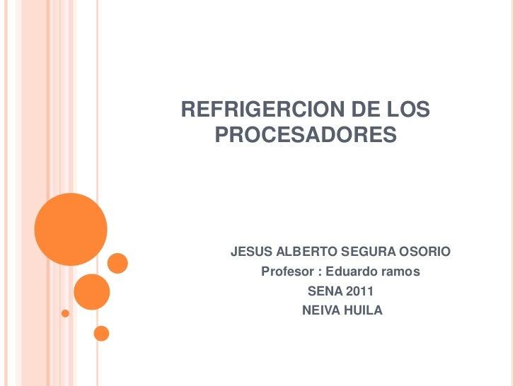 Trabajo de refrigeracion de los procesadores