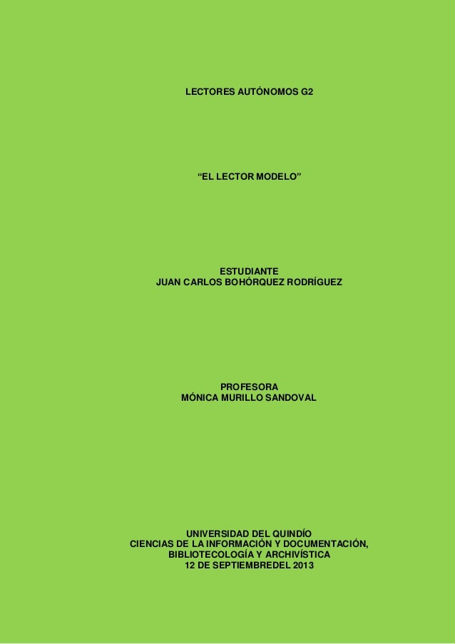 Trabajo de revistas lector modelo juan carlos bohorquez 12-09-2013