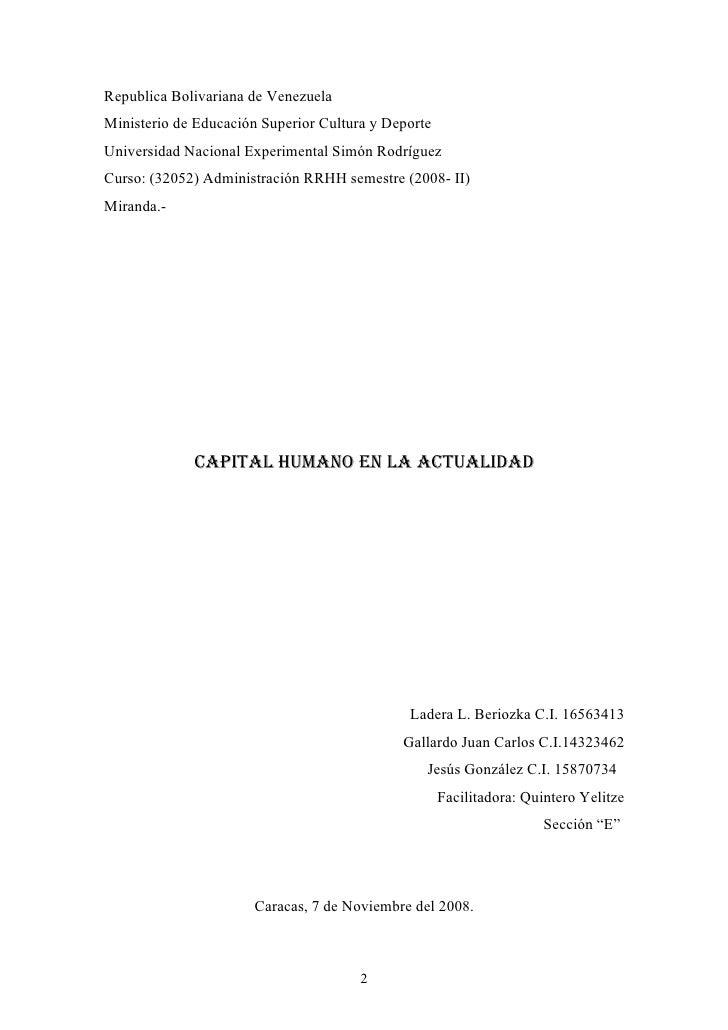 Republica Bolivariana de Venezuela Ministerio de Educación Superior Cultura y Deporte Universidad Nacional Experimental Si...