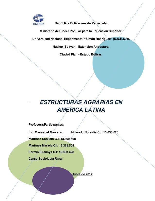 República Bolivariana de Venezuela.        Ministerio del Poder Popular para la Educación Superior.    Universidad Naciona...