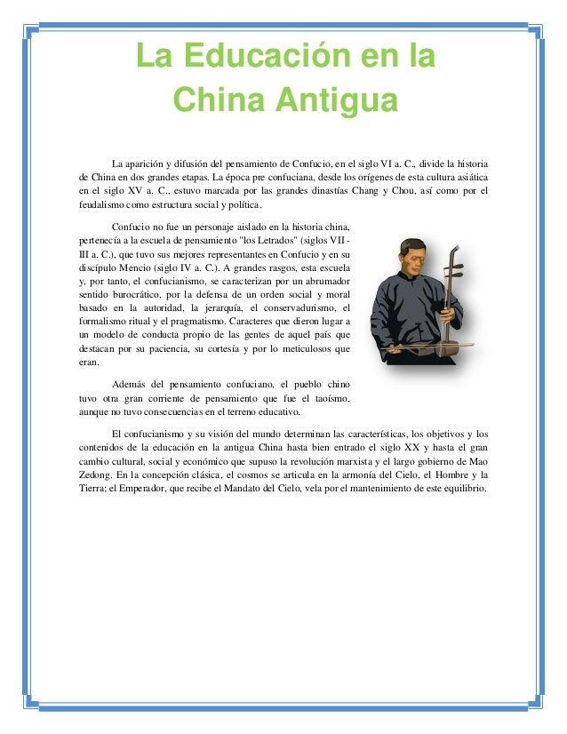 Trabajo educacion en china