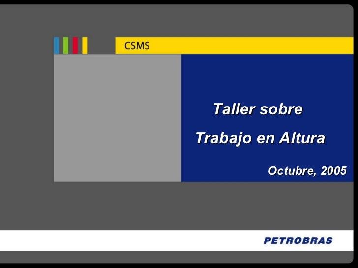 Taller sobre  Trabajo en Altura Octubre, 2005