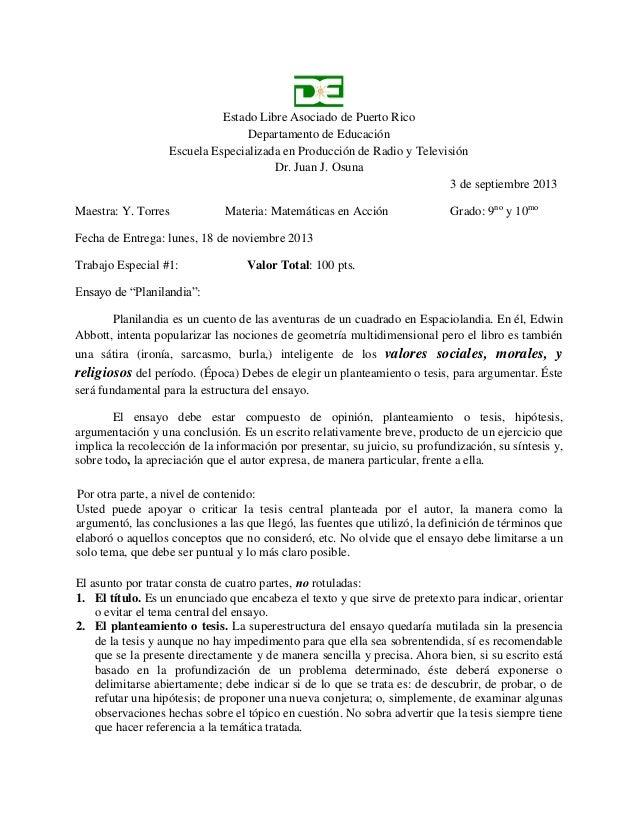 Estado Libre Asociado de Puerto Rico Departamento de Educación Escuela Especializada en Producción de Radio y Televisión D...