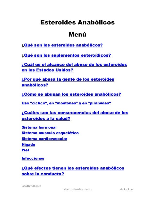 Esteroides Anabólicos                         Menú¿Qué son los esteroides anabólicos?¿Qué son los suplementos esteroídicos...
