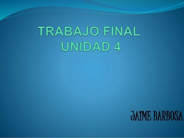 JAIME BARBOSA