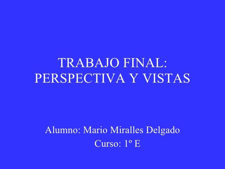 Trabajo Final Mario  Miralles