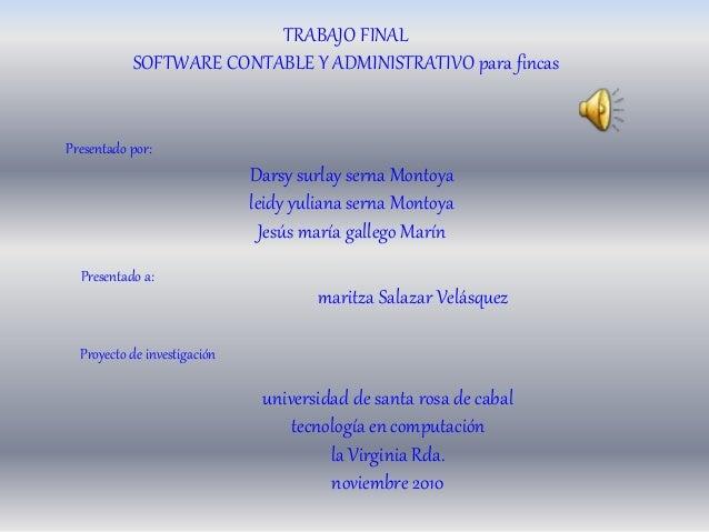 Presentado por: Presentado a: Proyecto de investigación Darsy surlay serna Montoya leidy yuliana serna Montoya Jesús maría...