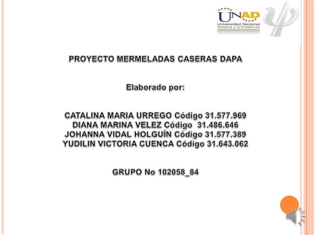 Trabajo final 102058 84 Mermeladas Caseras Dapa