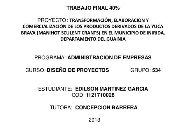 Trabajofinal40% diseño de proyectos