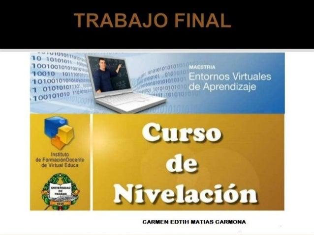 Trabajo final curso introductorio a la maestria entornos virtuales de aprendizaje