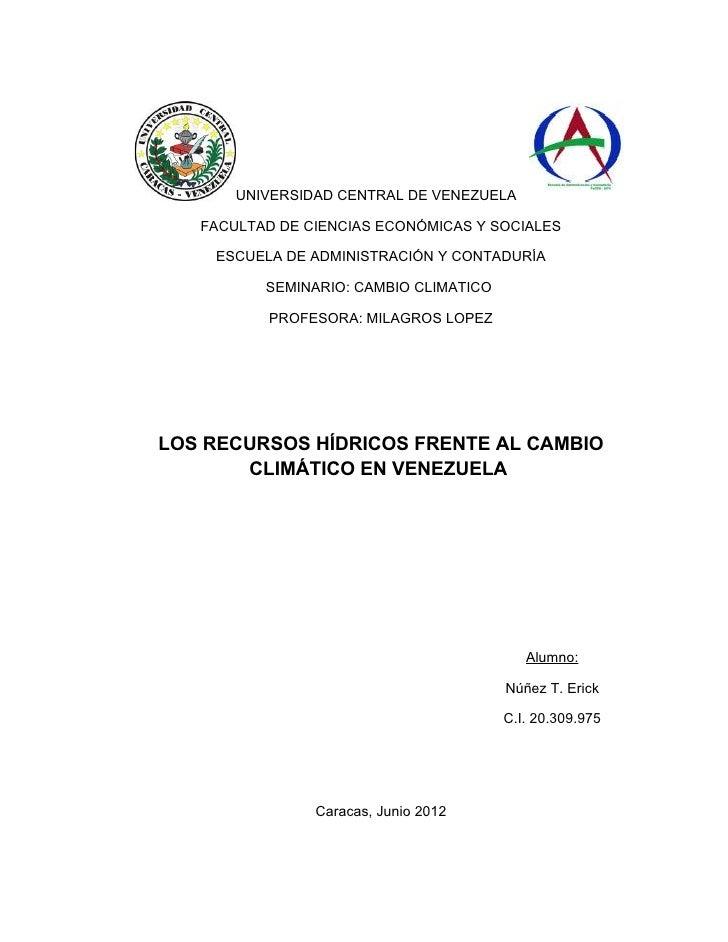 UNIVERSIDAD CENTRAL DE VENEZUELA   FACULTAD DE CIENCIAS ECONÓMICAS Y SOCIALES    ESCUELA DE ADMINISTRACIÓN Y CONTADURÍA   ...