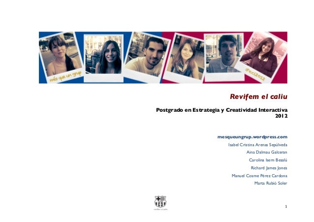 Trabajo final de postgrado  cliente f.c.barcelona