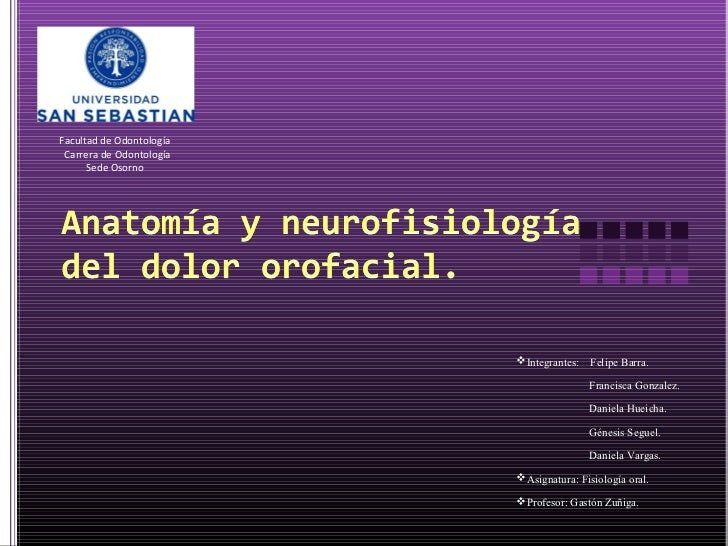 Facultad de Odontología Carrera de Odontología      Sede Osorno                          Integrantes:   Felipe Barra.    ...