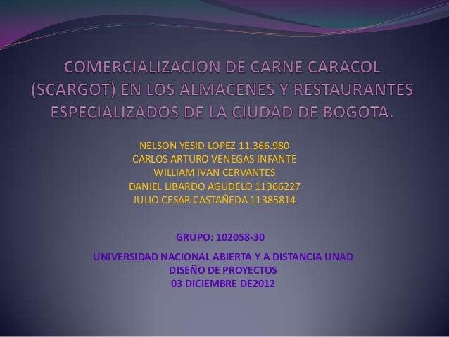 NELSON YESID LOPEZ 11.366.980       CARLOS ARTURO VENEGAS INFANTE           WILLIAM IVAN CERVANTES      DANIEL LIBARDO AGU...