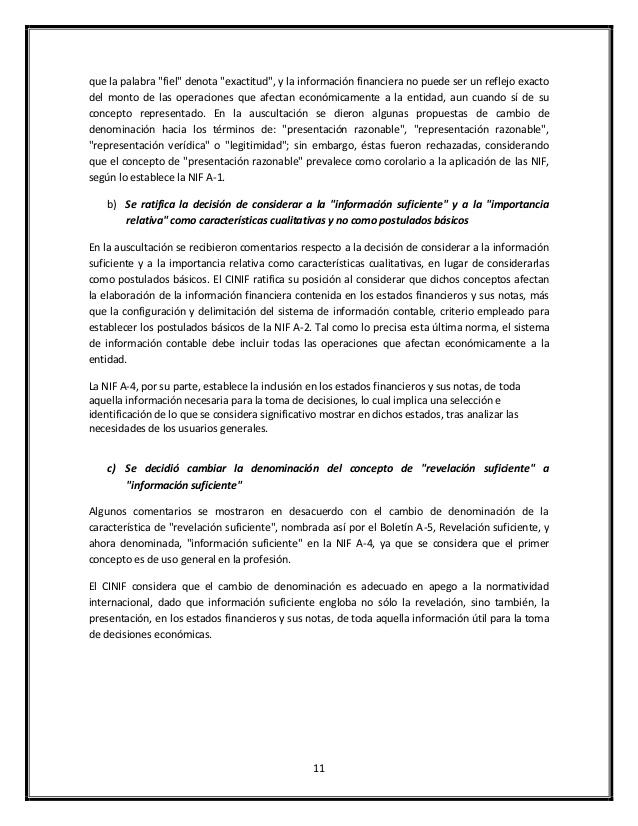 COMPARACI�N PCGA VS NIF
