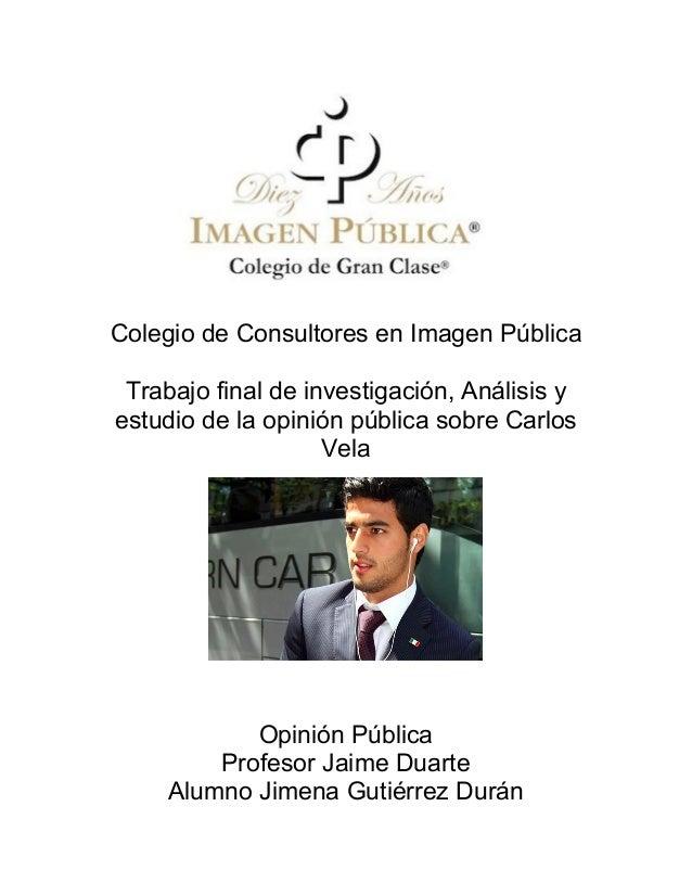 Colegio de Consultores en Imagen Pública Trabajo f...