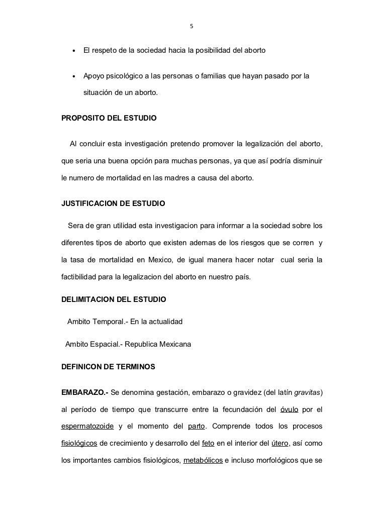 legalizacion del aborto essay Vota en la encuesta aborto en cadena 3.