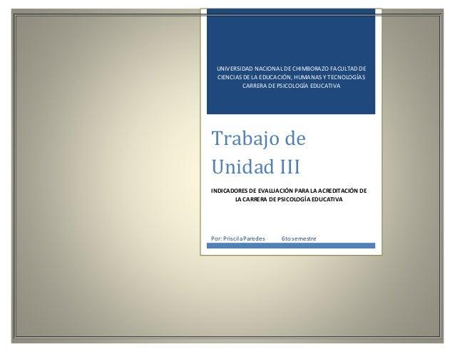 UNIVERSIDAD NACIONAL DE CHIMBORAZO FACULTAD DE CIENCIAS DE LA EDUCACIÓN, HUMANAS Y TECNOLOGÍAS CARRERA DE PSICOLOGÍA EDUCA...
