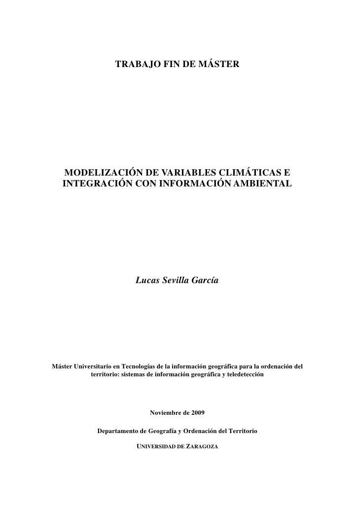 TRABAJO FIN DE MÁSTER   MODELIZACIÓN DE VARIABLES CLIMÁTICAS E   INTEGRACIÓN CON INFORMACIÓN AMBIENTAL                    ...