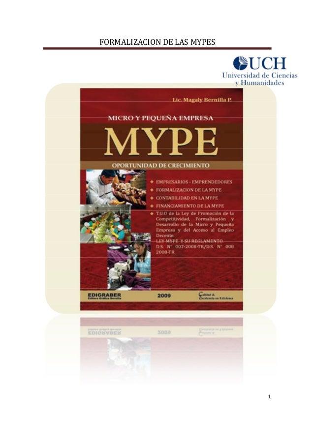 Formalizacion de mypes