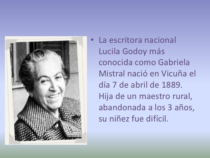 Gabriela Mistral informacion