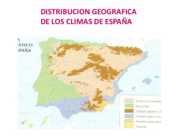 Distribucion de los climas en España