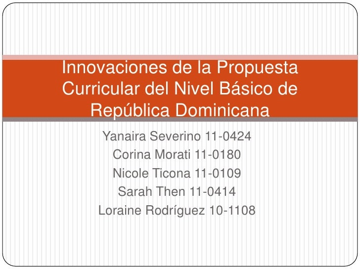 Innovaciones Curriculares República Dominicana
