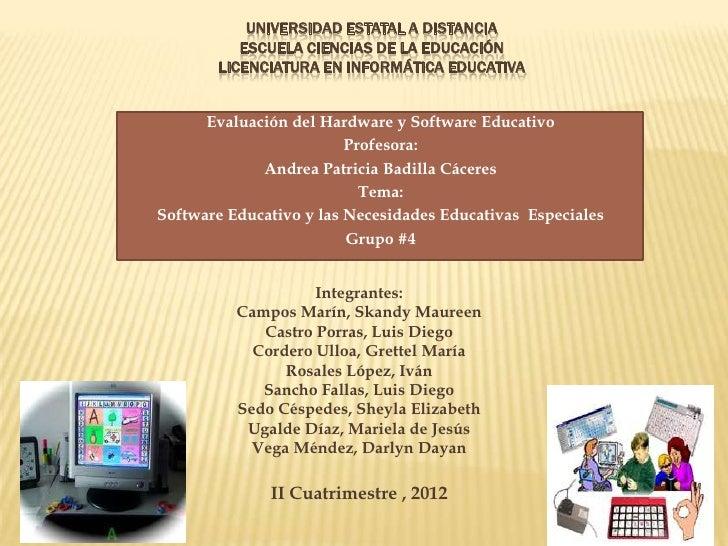 UNIVERSIDAD ESTATAL A DISTANCIA          ESCUELA CIENCIAS DE LA EDUCACIÓN       LICENCIATURA EN INFORMÁTICA EDUCATIVA     ...