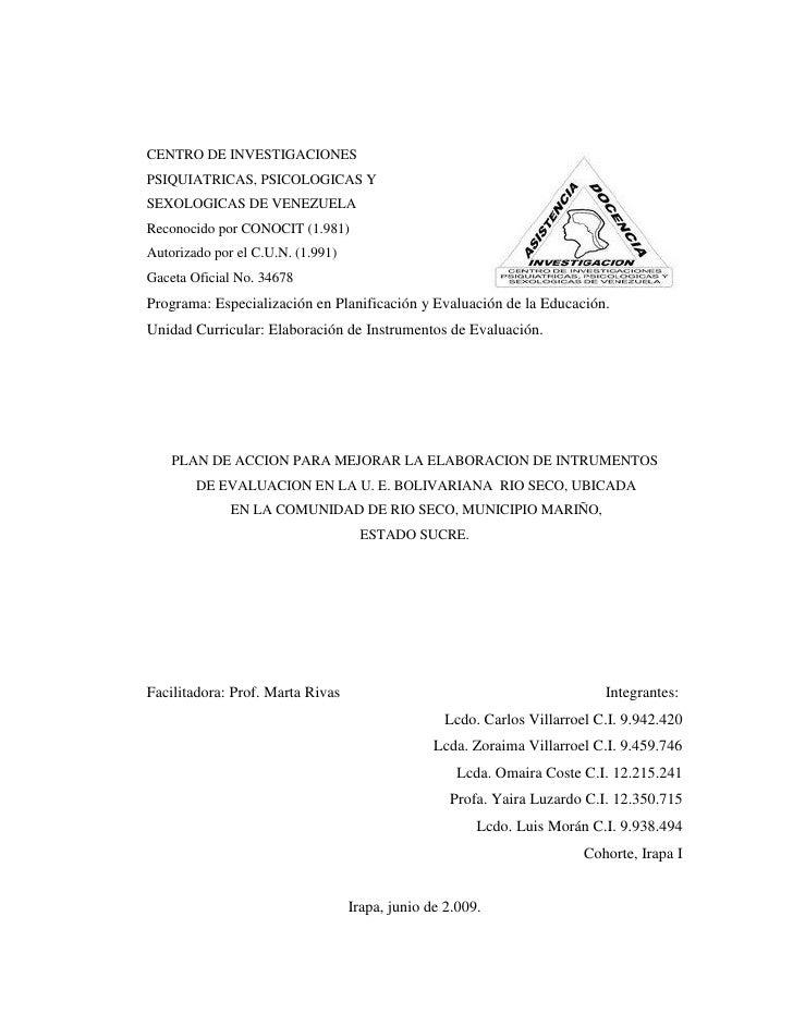 CENTRO DE INVESTIGACIONES PSIQUIATRICAS, PSICOLOGICAS Y SEXOLOGICAS DE VENEZUELA Reconocido por CONOCIT (1.981) Autorizado...