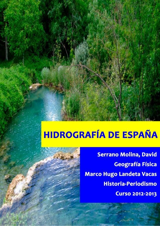 Trabajo Hidrografía de España
